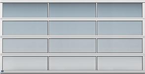 panoramic style ligh commercial garage door