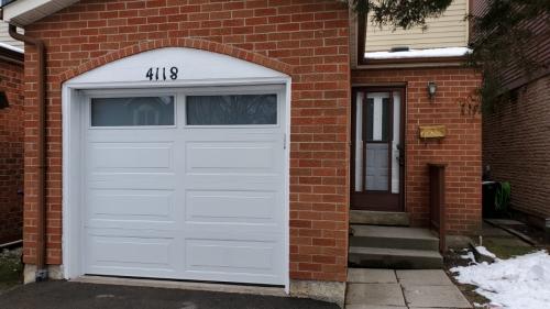 modern garage door installed in Mississauga. Pro Entry Services
