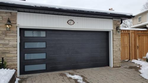 modern garage door installed in Milton. Pro Entry Services